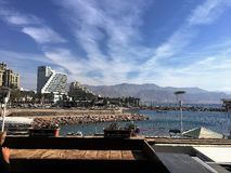 Eilat promenade. Beautiful Eilat promenade in Israel Royalty Free Stock Photos