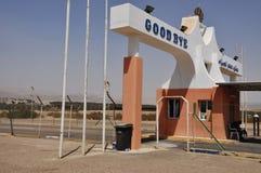 EILAT, ter de passage des frontières de l'ISRAËL - du 11 avril 2012 Photographie stock libre de droits