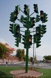 eilatisrael sista ljus trafik Arkivbilder