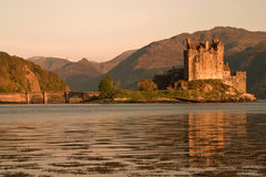 Eilean Donan Castle. In the west of Scotland in afternoon sunshine royalty free stock photos