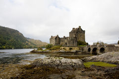 Eilean donan castle. A beautiful ancient castle shot in scotland Royalty Free Stock Photography
