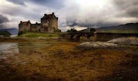 Eilean Donan Castle. Mystic Eilean Donan Castle with lake, Scotland Royalty Free Stock Photo