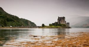 Eilean Donan Castle. As one of the most iconic images of Scotland, Eilean Donan is recognised all around the world. Situated on an island at the point where stock photography