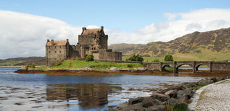 Eilean Donan Castle. And Loch Duich on the west coast of Scotland Royalty Free Stock Photo
