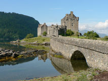 Eilean Donan Castle. On the shore of Loch Alsh, Scotland Royalty Free Stock Photography