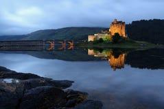 Eilean Donan castle. In a sunset, Scotland Highlands Stock Photography