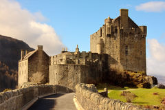 Eilean Donan Castle. Scotland with stone bridge approach in foreground Stock Image