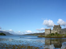 Eilean Donan Castle. Scotland, situated on an island at the point where three great sea lochs meet Royalty Free Stock Photos