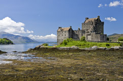 Eilean Donan Castle. In Dornie near Kyle of Lochalsh in Scotland stock photography