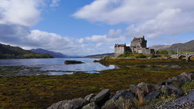 Eilean Donan castle in Dornie, Scotland stock video footage