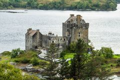 Eilean Donan castle at Scottish highlands in the UK Royalty Free Stock Photography