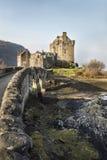Eilean Donan Castle en el lago Duich en Escocia Imagen de archivo