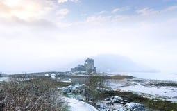 Eilean Donan Castle en invierno foto de archivo