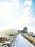 Eilean Donan Castle en invierno imagen de archivo libre de regalías