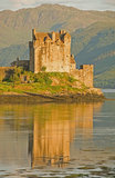 Eilean Donan Castle in evening light. Royalty Free Stock Photography
