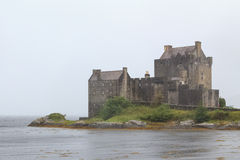 Eilean Donan Castle in Fog Stock Photo