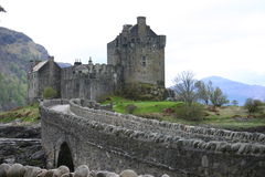 Eilean Donan Castle. Footbridge over to Eilean Donan castle Stock Photo