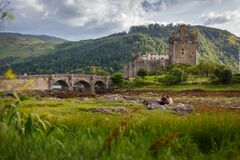 Free Eilean Donan Castle From 13th Century In The Centre Of Three Lochs - Alsh, Duich, Long, In Dornie, Kyle Of Lochalsh Royalty Free Stock Images - 174247549