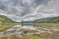 Eilean Donan castle, Highlands, Scotland, UK royalty free stock photography