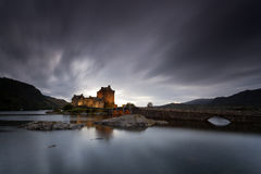 Eilean Donan Castle II. Castle by night, Isle of Skye, Scotland, UK Royalty Free Stock Photos