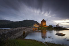 Eilean Donan Castle III. Castle by night, Isle of Skye, Scotland, UK Stock Photos