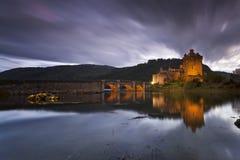 Eilean Donan Castle IV. Castle by night, Isle of Skye, Scotland, UK royalty free stock image