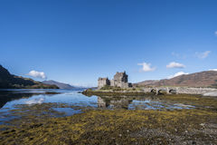 Eilean Donan Castle, Kyle of Lochalsh. Beautiful Eilean Donan Castle, 13th century fortification  at Dornie, Kyle of Lochalsh in the Scottish Highlands with Royalty Free Stock Image