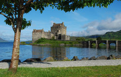 Eilean Donan Castle. Is located in the Scottish Highlands at Dornie, near the Isle of Skye Royalty Free Stock Images