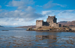 Eilean Donan Castle and Loch Duich Stock Images