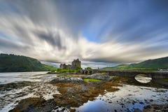 Eilean Donan Castle, Loch Duich, Schotland, het UK Stock Afbeeldingen