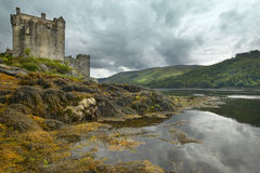 Eilean Donan castle and Loch Duich in Scotland Royalty Free Stock Image