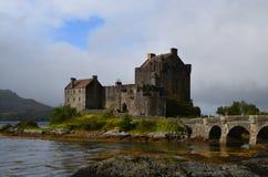 Eilean Donan Castle with Loch Duich Surrounding It Stock Images