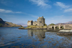 Eilean Donan Castle and Loch Duich Stock Photo