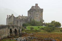 Eilean Donan Castle most famous castle in Scotland Royalty Free Stock Photography