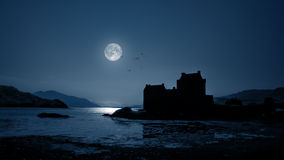 Eilean Donan Castle by night Stock Photography