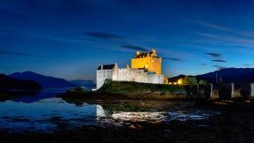Eilean Donan Castle at Night Stock Photo