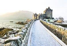 Eilean Donan Castle no inverno Imagem de Stock Royalty Free