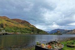 Eilean Donan Castle no Loch Duich, Escócia Imagens de Stock
