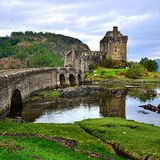 Eilean Donan Castle. Picturesque Eilean Donan Castle in the highlands of Scotland Royalty Free Stock Images