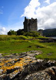 Eilean donan castle and rocks Stock Photography