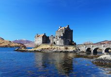 Eilean Donan Castle in Schotland Royalty-vrije Stock Foto