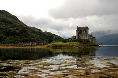 Eilean Donan Castle Scotland. The most photographed castle of Scotland is Eilean Donan. The castle was in ruins for over 300 years and completely restored 100 Royalty Free Stock Photo