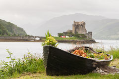 Eilean donan castle. In Scotland Royalty Free Stock Image