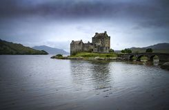 Eilean Donan castle in the Scottish Highlands Royalty Free Stock Photo