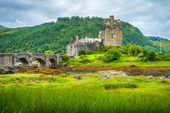 Eilean Donan Castle in the Scottish Highlands. Stock Photography
