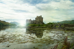Eilean donan castle in scottland Royalty Free Stock Image