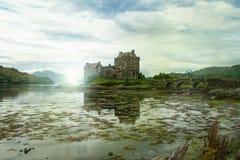 Eilean donan castle in scottland. Skye island Royalty Free Stock Image