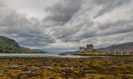 Eilean Donan Castle. Skye and loch, algae, Autumn colors Royalty Free Stock Photos