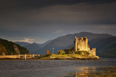 Eilean Donan Castle. Sunset at Eilean Donan Castle, Isle of Skye, Scotland, UK Royalty Free Stock Photos