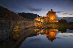 Eilean Donan Castle V. Castle by night, Isle of Skye, Scotland, UK Royalty Free Stock Image
